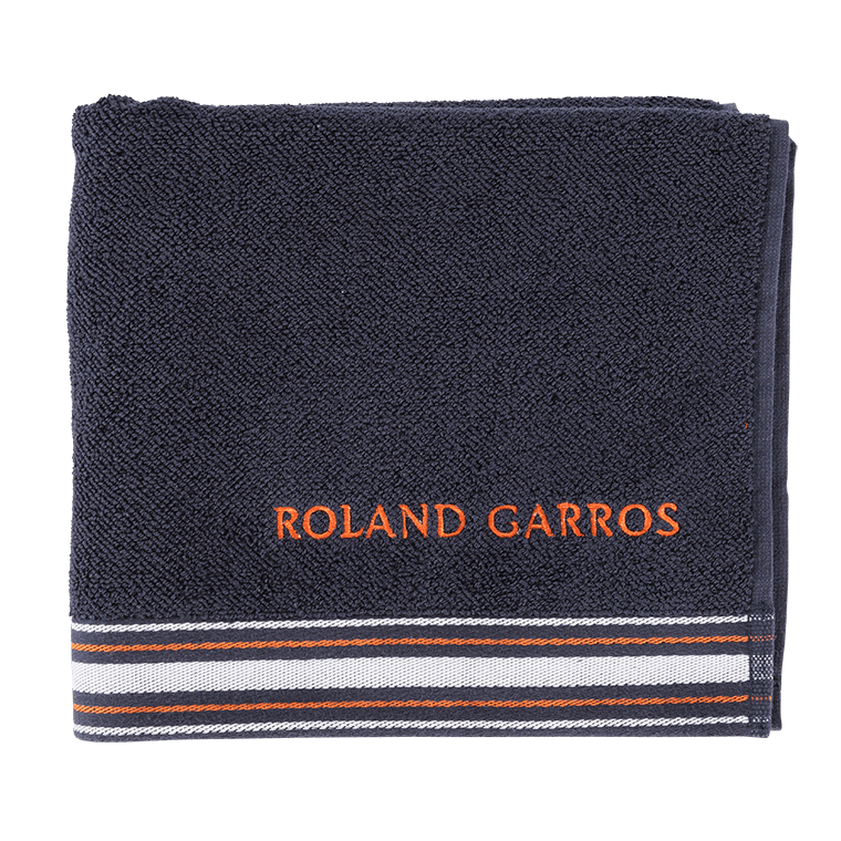 serviette de toilette roland garros 2016 marine carre blanc. Black Bedroom Furniture Sets. Home Design Ideas
