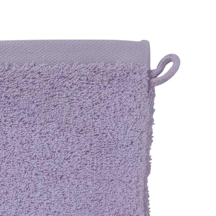 Gant de toilette coton biologique brodé Tribu parme - 3