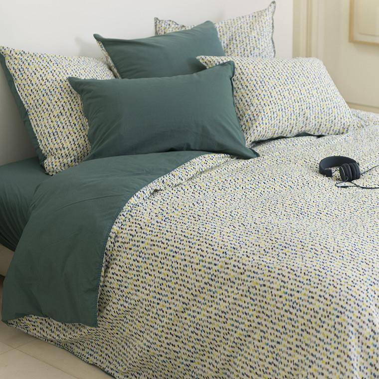housse de couette yanis carre blanc. Black Bedroom Furniture Sets. Home Design Ideas