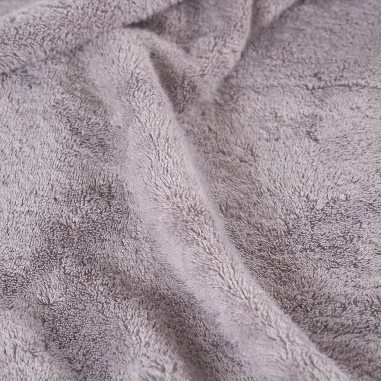 Drap de bain bouclette de coton brodé Bellagio gris - 2