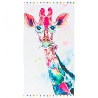 Fouta coton imprimée girafe colorée Girafa
