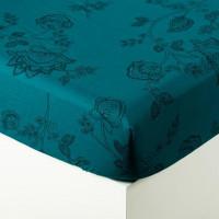 Drap housse coton imprimé motif floral indien Indie