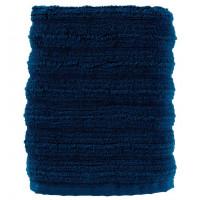 Serviette de toilette coton moelleux texturé unie Le lac bleu stone