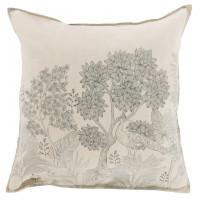 Taie d'oreiller carrée lin coton forêt indienne Pandya