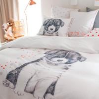 Housse de couette coton imprimé chien Puppy