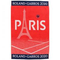 Serviette de plage joueur bouclette jacquard de coton Roland-Garros 2020 terre battue