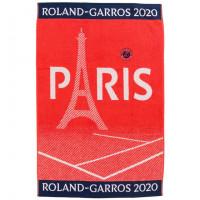 Serviette joueur bouclette jacquard de coton Roland-Garros 2020 terre battue
