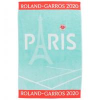 Serviette joueuse bouclette jacquard de coton Roland-Garros 2020 céladon