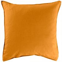 Taie d'oreiller carrée lin et coton lavé Songe curcuma