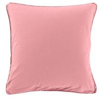 Taie d'oreiller carrée en pur coton lavé biologique Souffle pétale