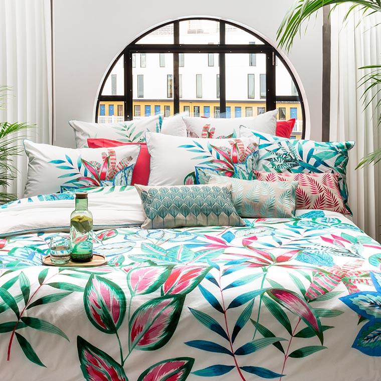 housse de couette percale de coton v g tal aloe carre blanc. Black Bedroom Furniture Sets. Home Design Ideas