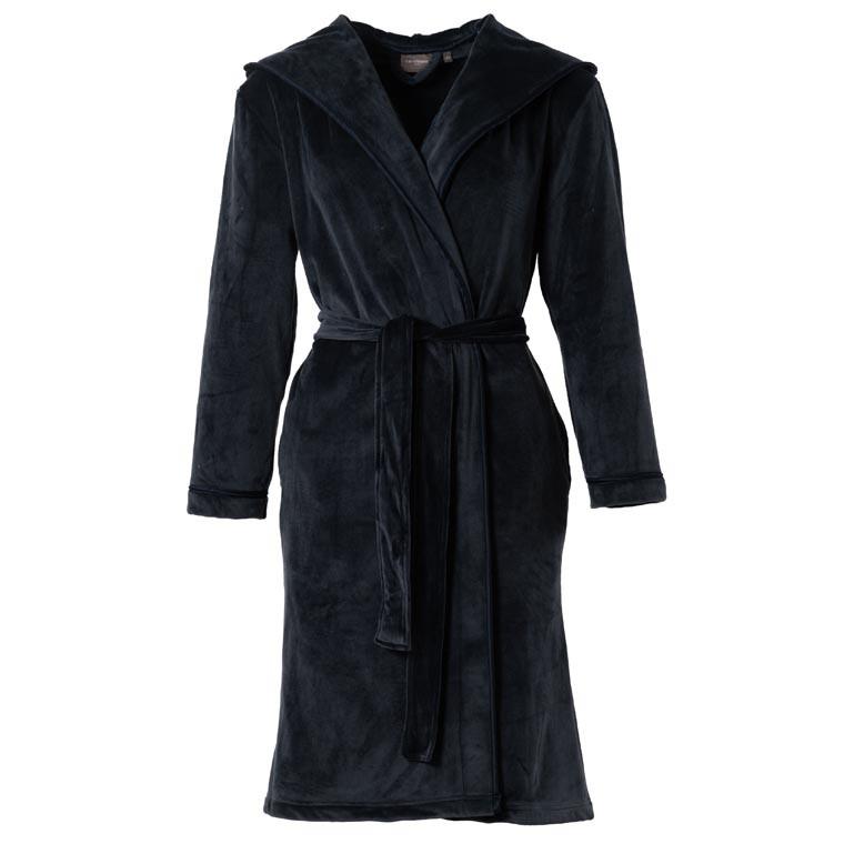 Robe de chambre femme à capuche microfibre ALTHEA ARDOISE