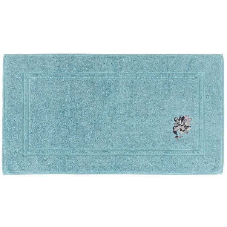 tapis de bain ancolie celadon carre blanc - Tapis De Bain