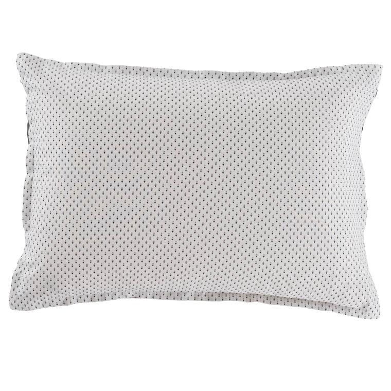 Taie d'oreiller rectangulaire toile de coton imprimée Anton