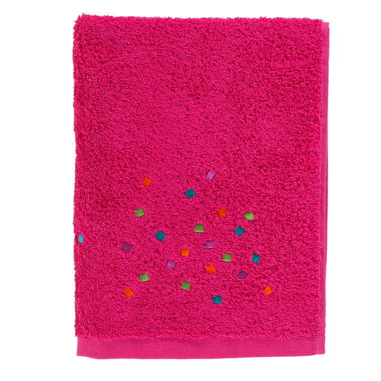 Serviette de toilette ARTIFICE FUSCHIA