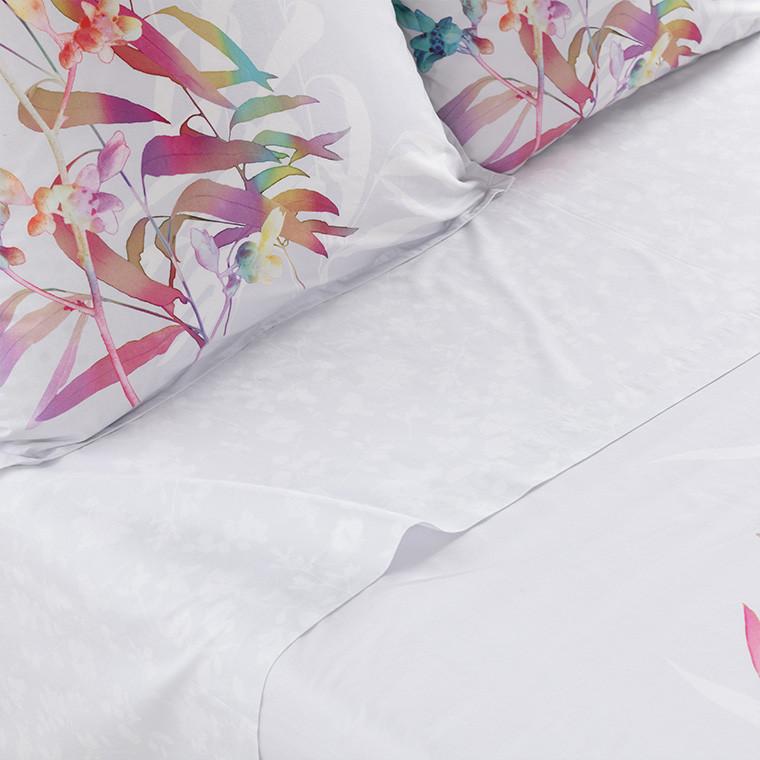 Drap de lit percale de coton végétal ASPHODEL