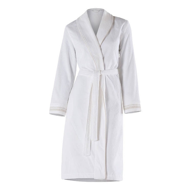 Peignoir femme coton brodé Bellagio blanc