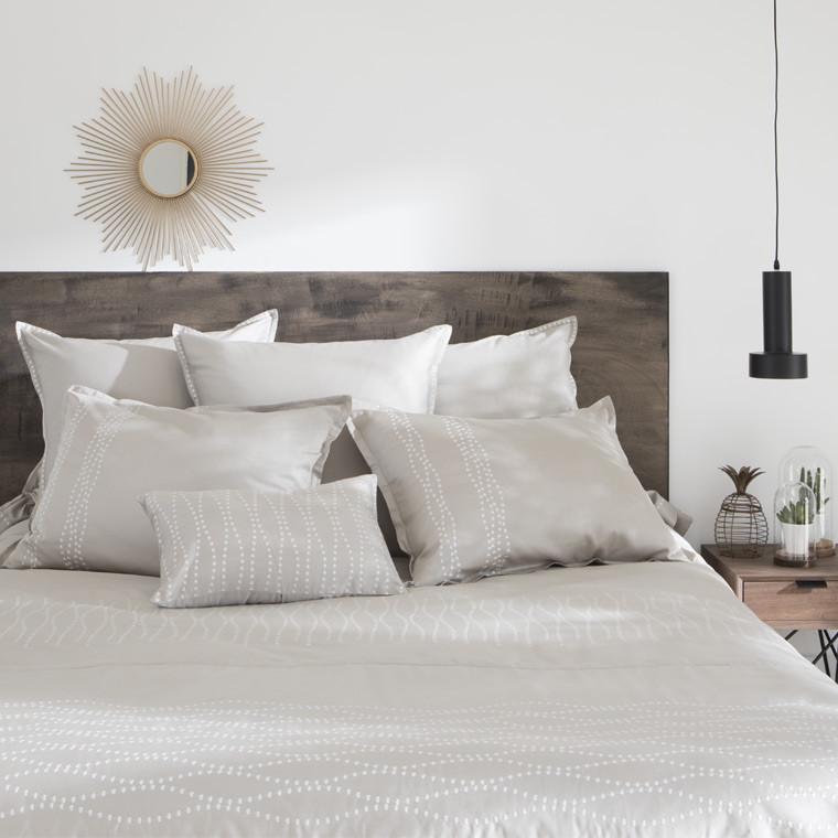 Parures de lit adulte linge de lit fantaisie carr blanc for Parure de lit portugal