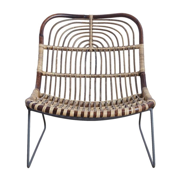 chaise basse en rotin - Chaise Basse