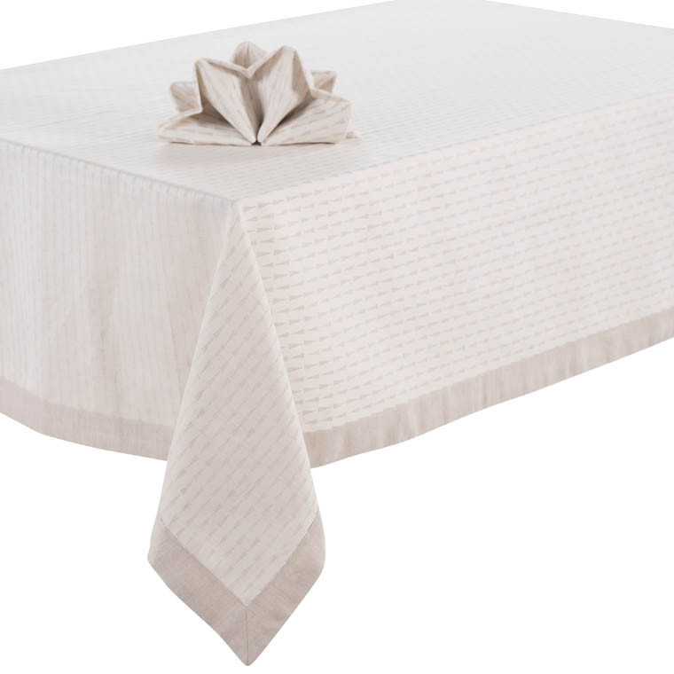 nappe jacquard come lin carre blanc. Black Bedroom Furniture Sets. Home Design Ideas