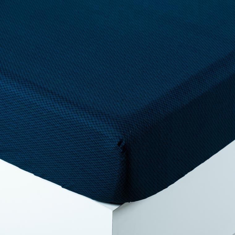 Drap housse coton imprimé motif géométrique Dandy