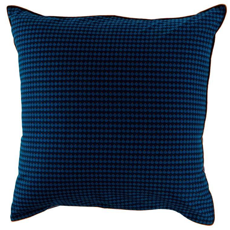 Taie d'oreiller carré coton imprimé motif géométrique Dandy