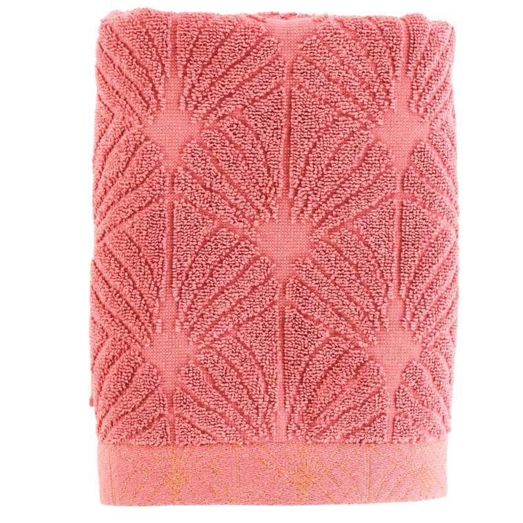 Serviette de toilette coton ciselé Divine bois de rose
