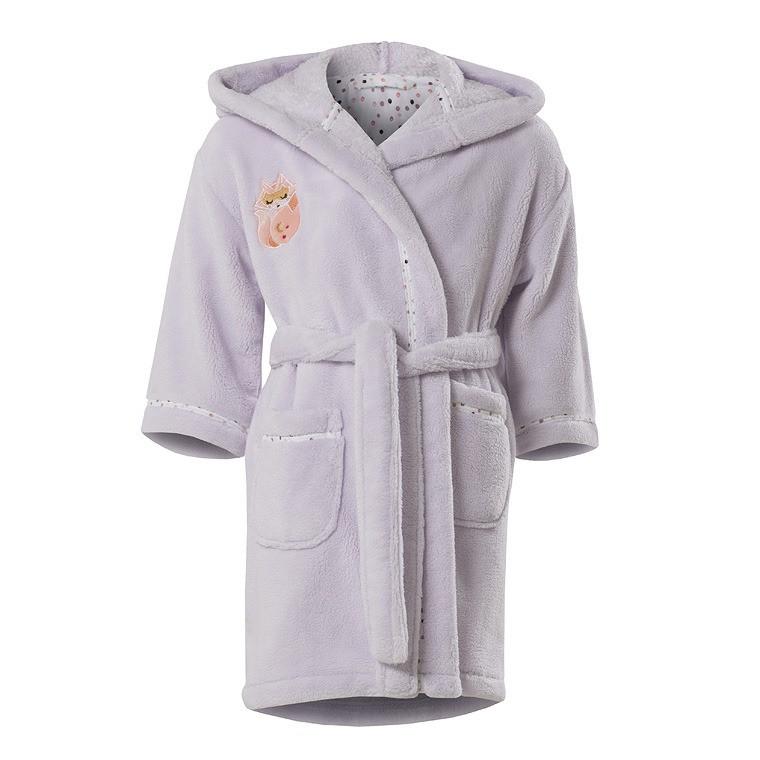 Robe de chambre enfant EMMY PARME - CARRE BLANC