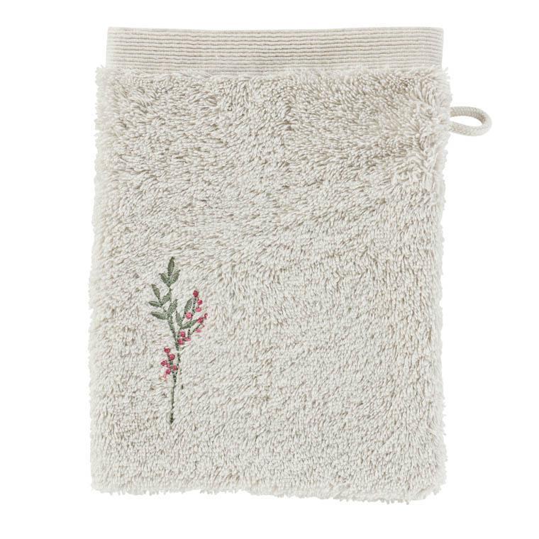 Gant de toilette coton biologique brodé liberty Envol nuage