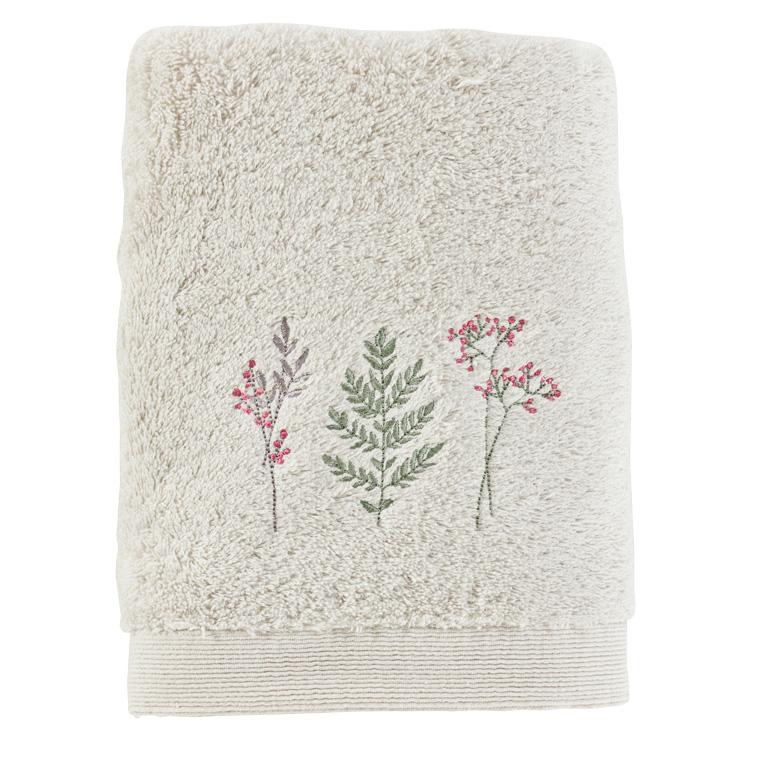 Serviette de toilette coton biologique brodée liberty Envol nuage