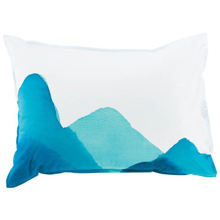 Taie d'oreiller rectangulaire percale de coton imprimée fresque paysage Evasion