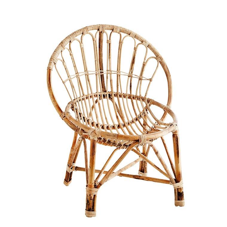 fauteuil en bambou deco carre blanc - Fauteuil Bambou