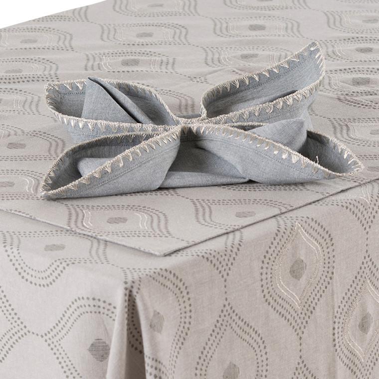 serviette de table galice carre blanc. Black Bedroom Furniture Sets. Home Design Ideas