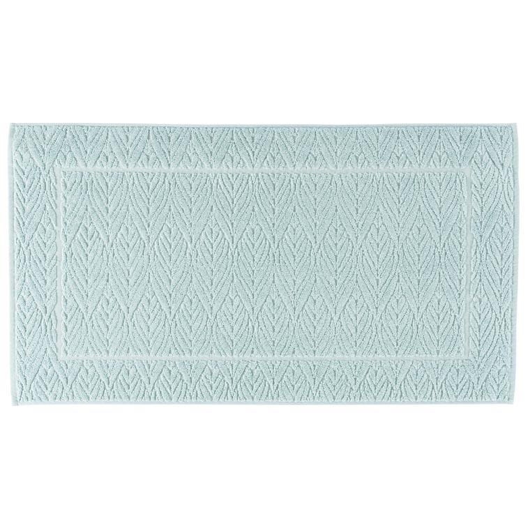 Tapis de bain coton ciselé Givre glacier