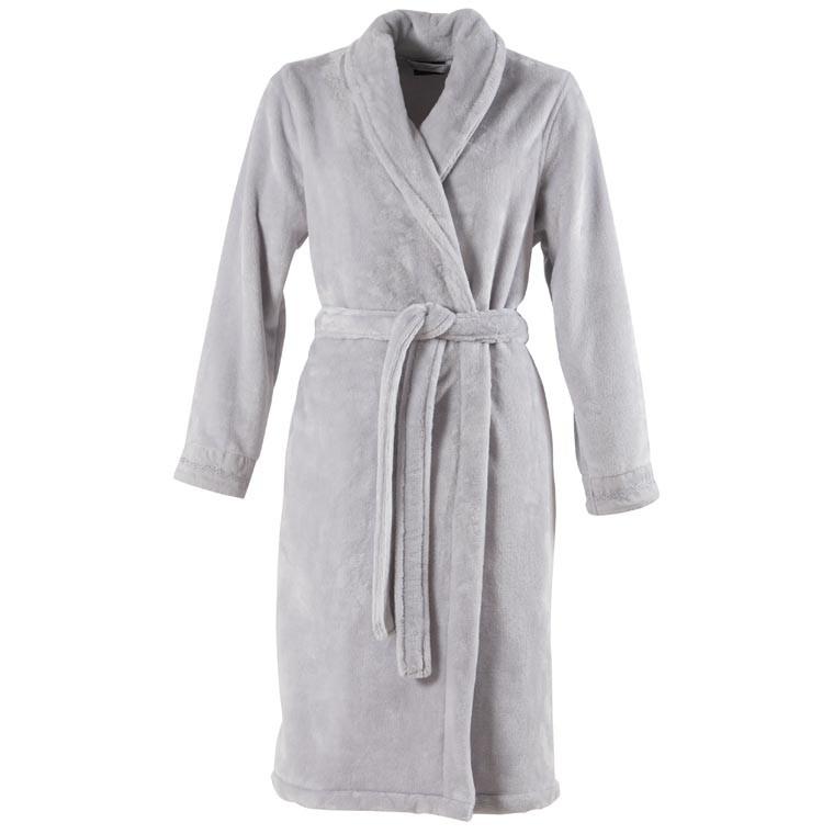 Robe de chambre femme coton brodée Irina perle