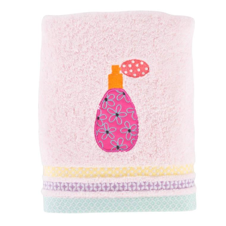 serviette de toilette lovely rose carre blanc. Black Bedroom Furniture Sets. Home Design Ideas