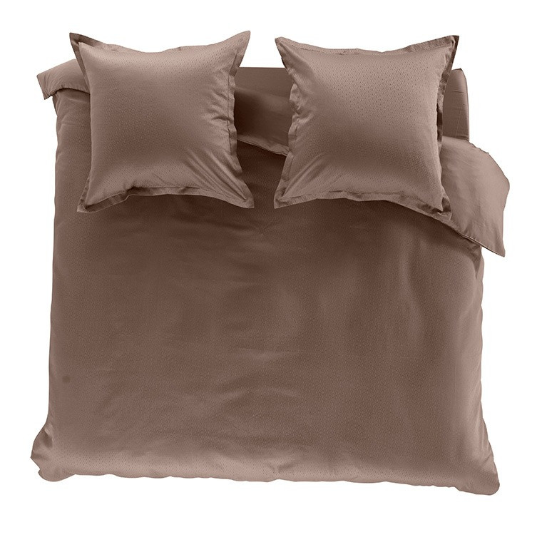 housse de couette maestro taupe carre blanc. Black Bedroom Furniture Sets. Home Design Ideas