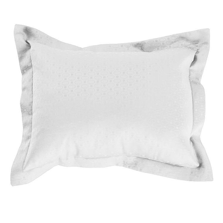 Taie d'oreiller rectangulaire satin de coton Maestro blanc