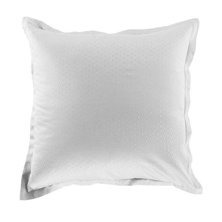Taie d'oreiller carrée satin de coton Maestro blanc
