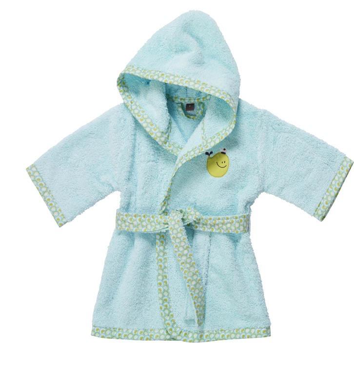 Robe de chambre bebe carre blanc