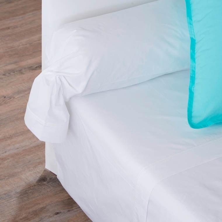 Drap de lit percale de coton Neo blanc
