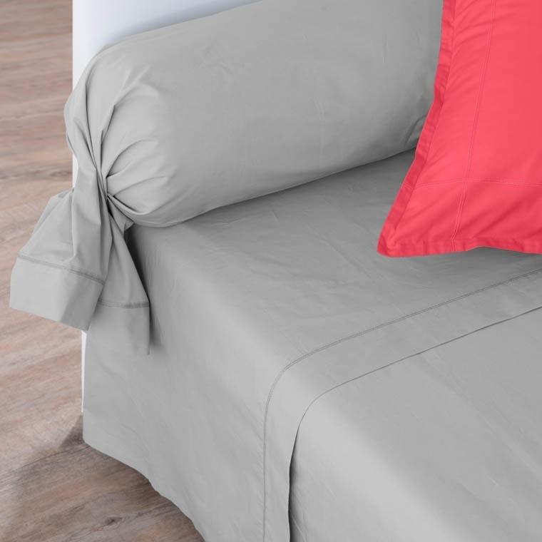 Drap de lit percale de coton Neo gris