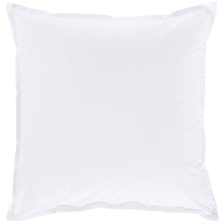 Taie d'oreiller carrée percale de coton Neo blanc