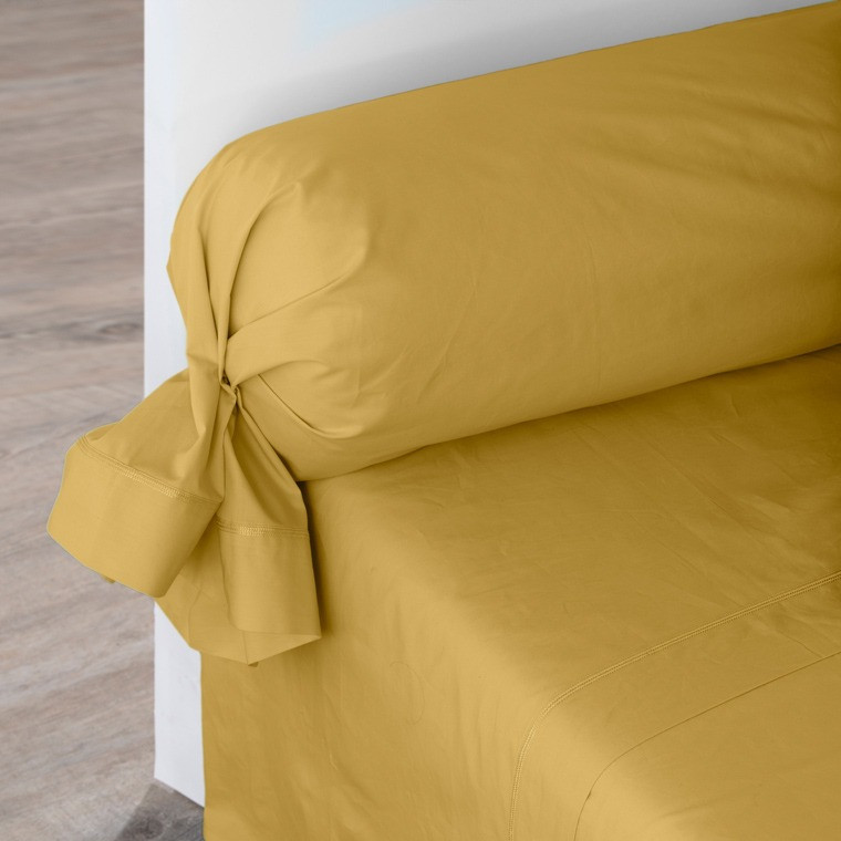 Drap de lit percale de coton Neo curry
