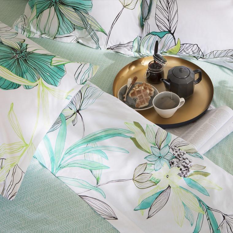 Drap de lit palawan carre blanc for Draps de lit