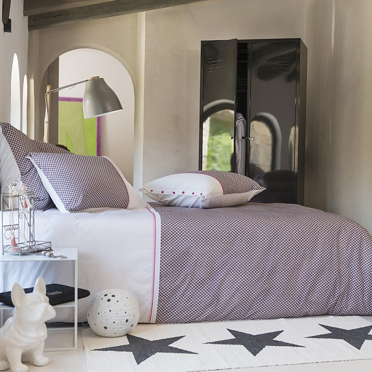 parure de lit cameron parures de lit ado carre blanc. Black Bedroom Furniture Sets. Home Design Ideas