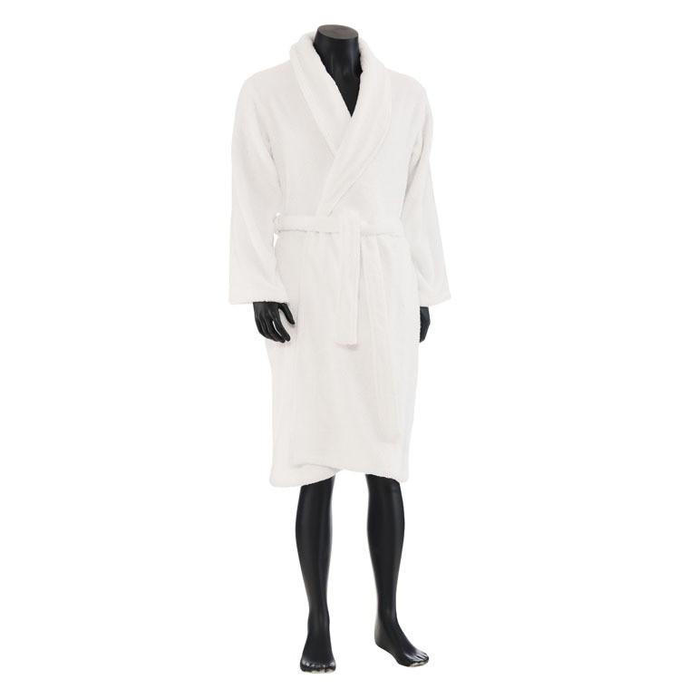 Peignoir homme en coton d 39 egypte blanc pablo carr blanc for Peignoir eponge homme