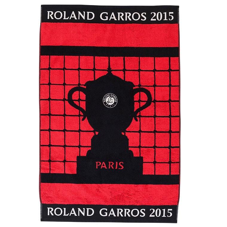 Serviette de toilette officielle des Joueuses Roland Garros 2015 ROUGE