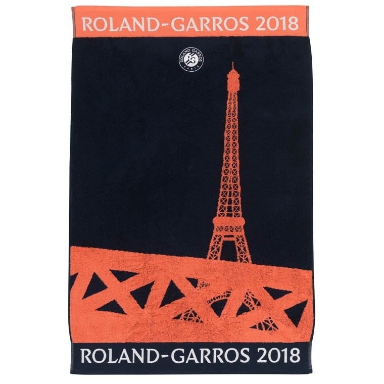 Serviette De Plage Roland Garros 2014.Serviette Joueur Roland Garros 2018 Marine Carre Blanc