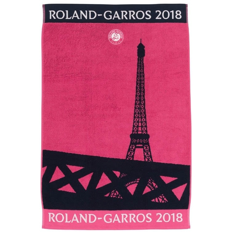Serviette JOUEUSE Roland Garros 2018 ROSE
